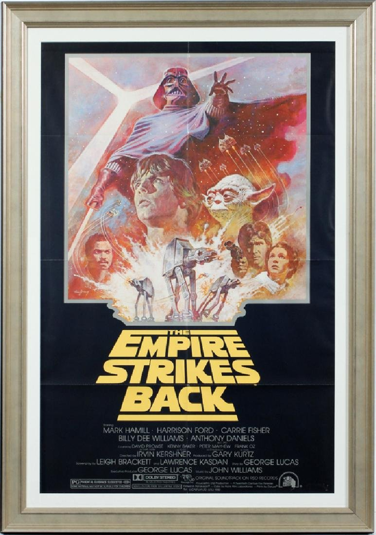 """""""THE EMPIRE STRIKES BACK"""" MOVIE POSTER, C. 1981"""