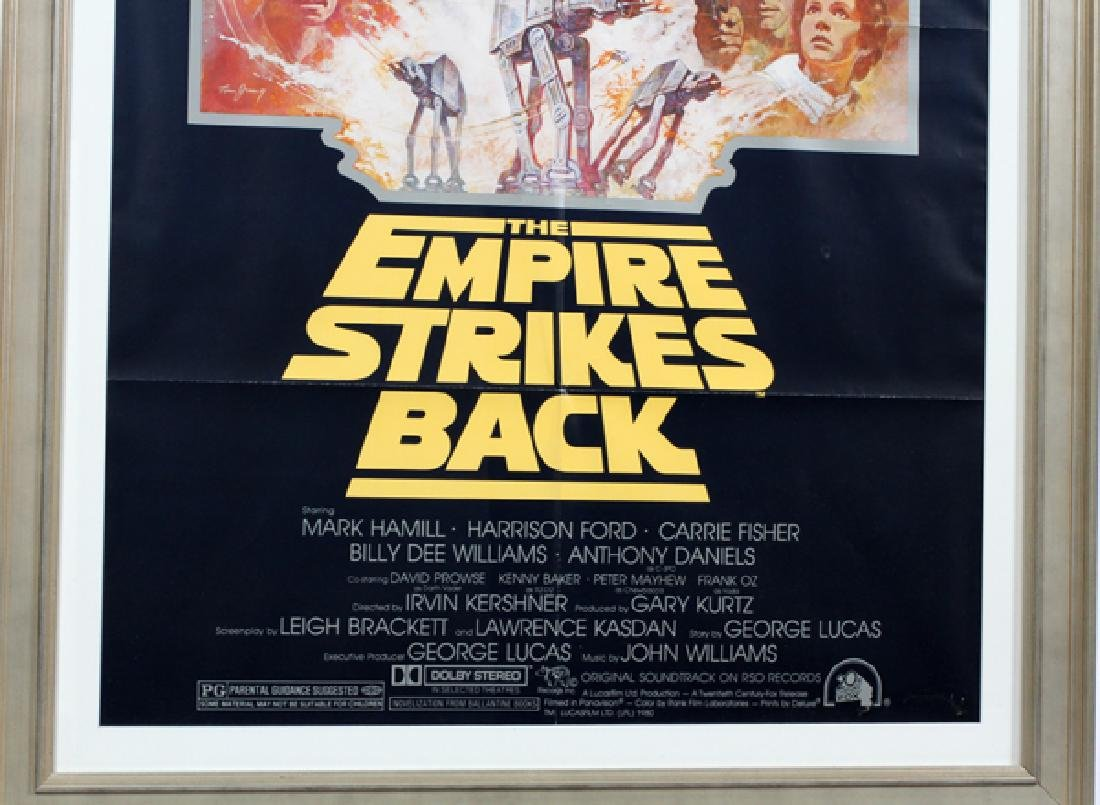 """""""THE EMPIRE STRIKES BACK"""" MOVIE POSTER, C. 1981 - 2"""