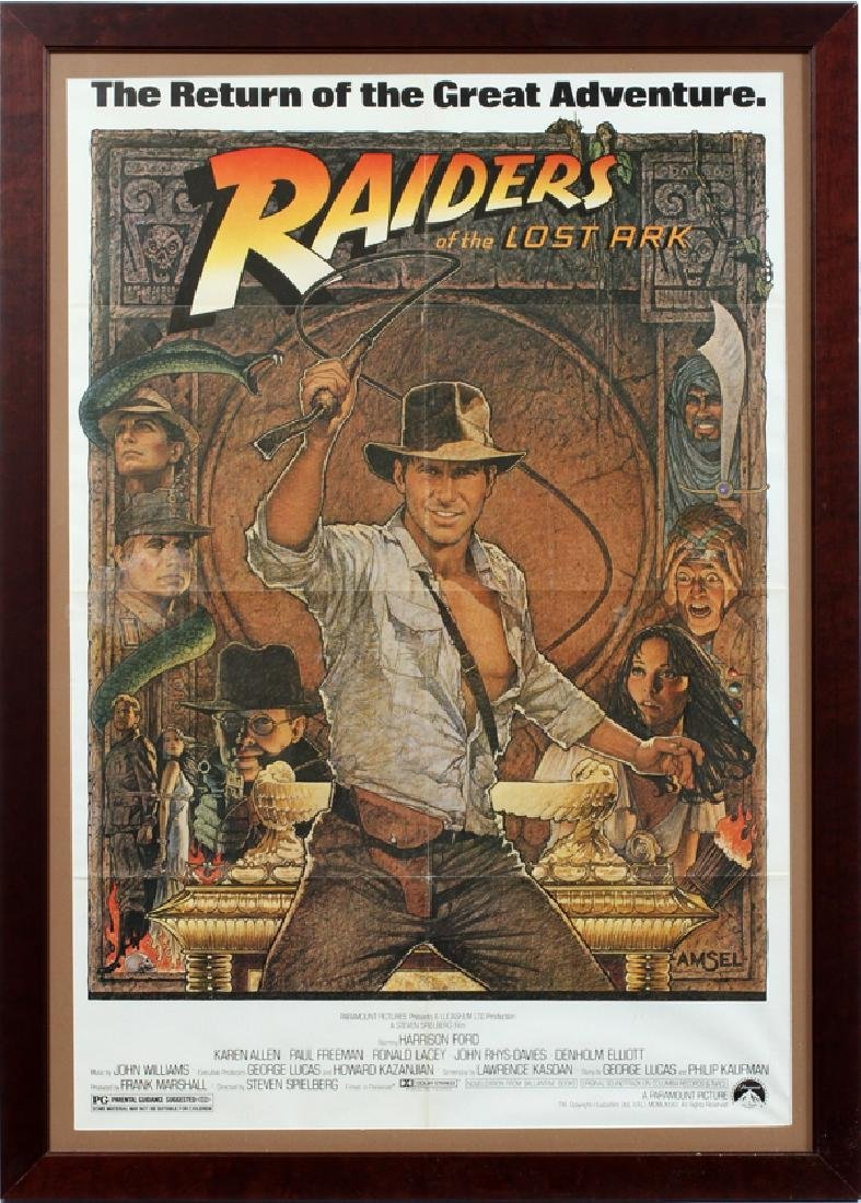 """""""RAIDERS OF THE LOST ARK"""" MOVIE POSTER"""
