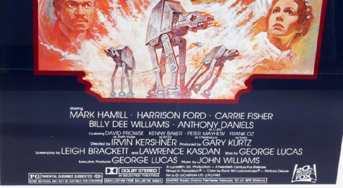 """""""THE EMPIRE STRIKES BACK"""" MOVIE POSTER, C. 1982 - 2"""