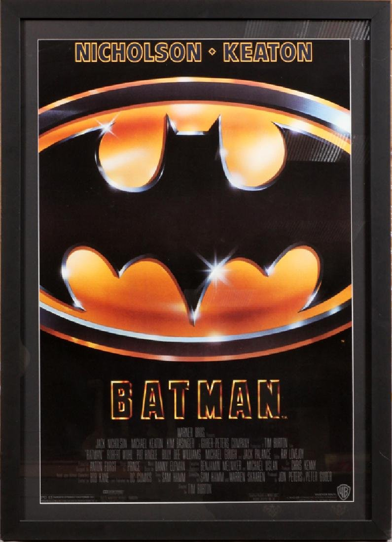 """BATMAN"" MOVIE POSTER, C. 1989, H 38'', W 25''"