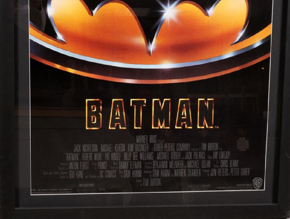 """BATMAN"" MOVIE POSTER, C. 1989, H 38'', W 25'' - 2"