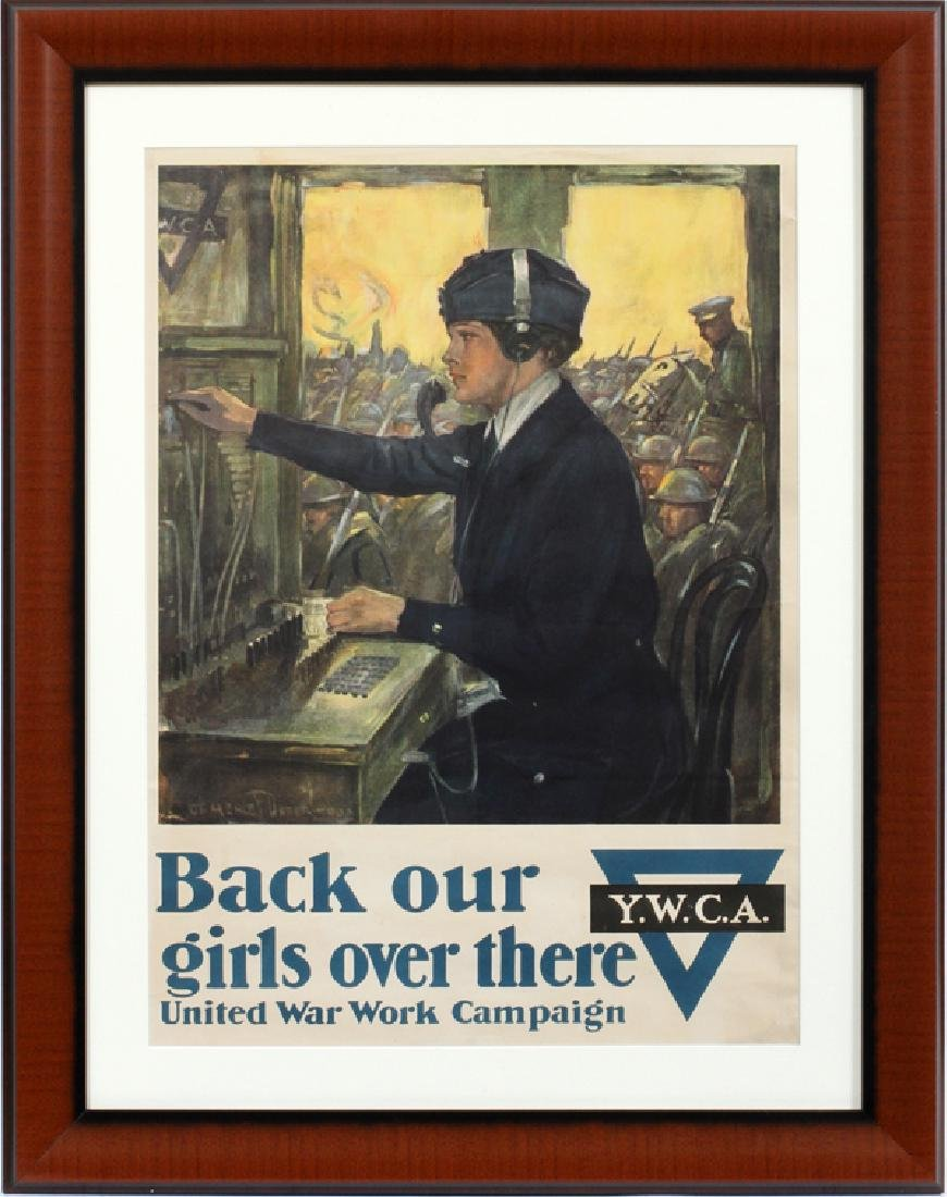 CLARENCE F. UNDERWOOD UNITED WAR WORK POSTER