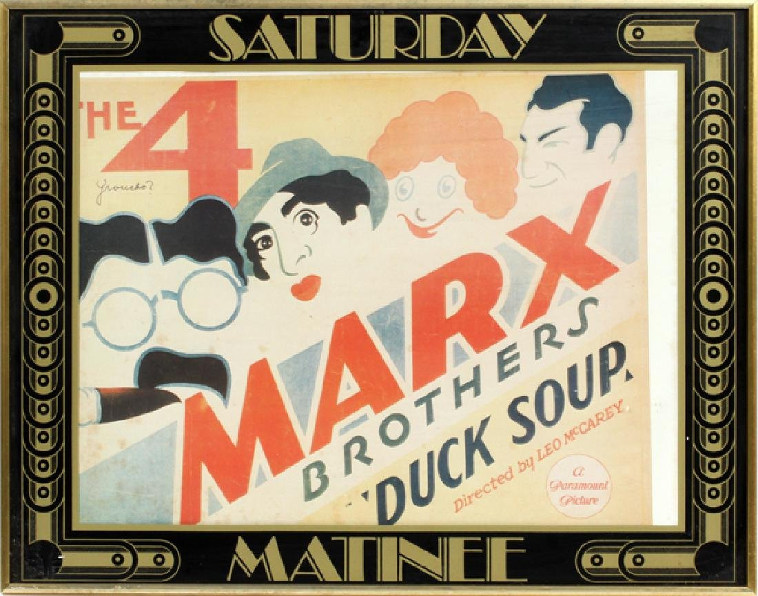 THE 4 MARX BROTHERS MOVIE POSTER, C. 1933