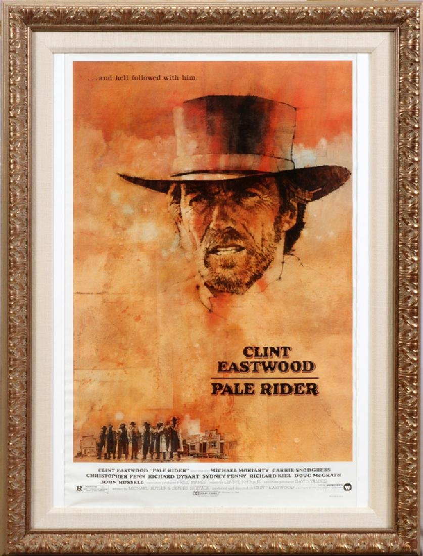 """PALE RIDER"" MOVIE POSTER, C. 1985"