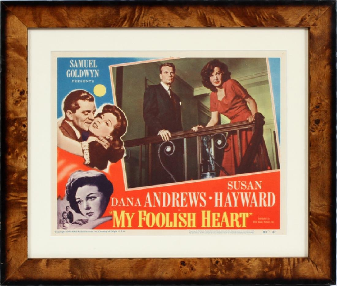 'MY FOOLISH HEART' MOVIE POSTER, C. 1949