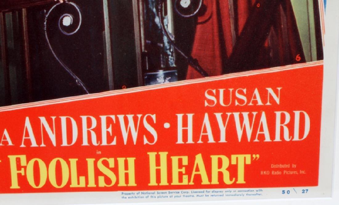 'MY FOOLISH HEART' MOVIE POSTER, C. 1949 - 2