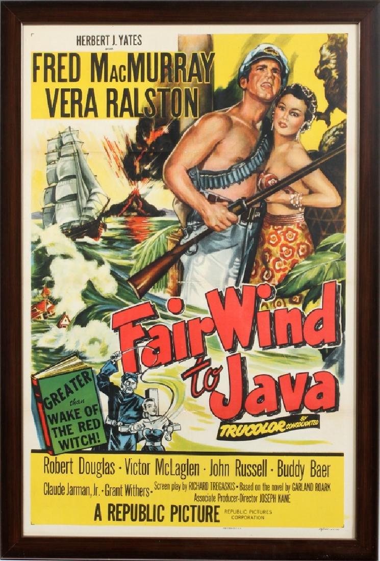 """FAIR WIND TO JAVA"" MOVIE POSTER, C. 1953"
