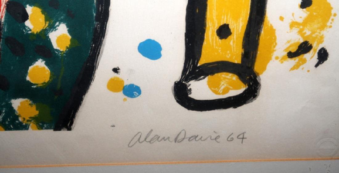 """ALAN DAVIE COLOR LITHOGRAPH, 1964 """"BIRD NOISES"""" - 2"""
