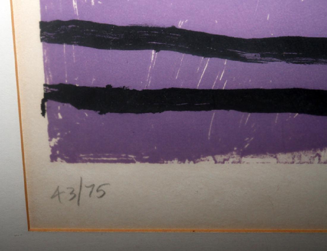 """ALAN DAVIE COLOR LITHOGRAPH, 1964 """"BIRD NOISES"""" - 3"""