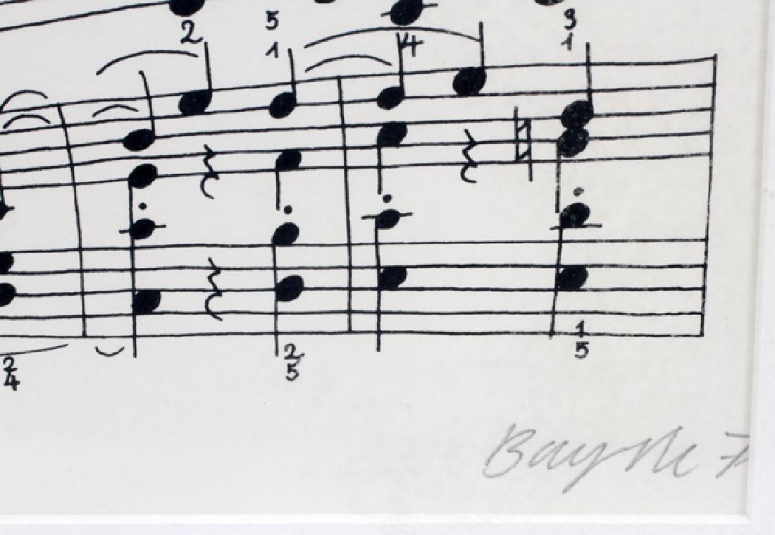 "THOMAS BAYRLE SIGNED LITHOGRAPH ""FRAGMENT"" - 2"