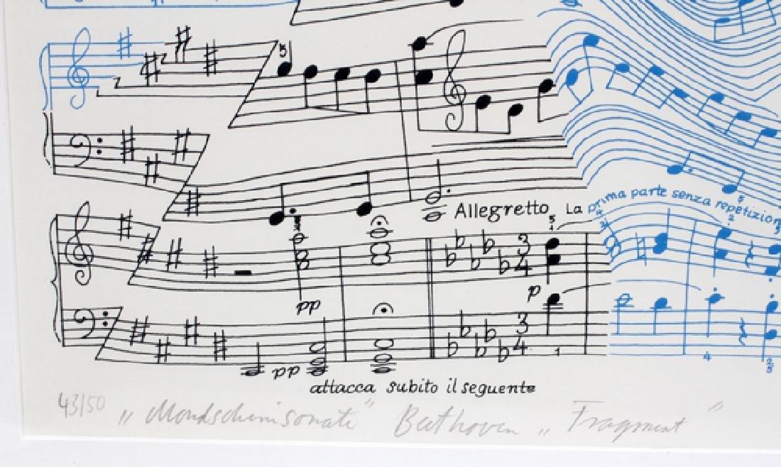 "THOMAS BAYRLE SIGNED LITHOGRAPH ""FRAGMENT"" - 3"