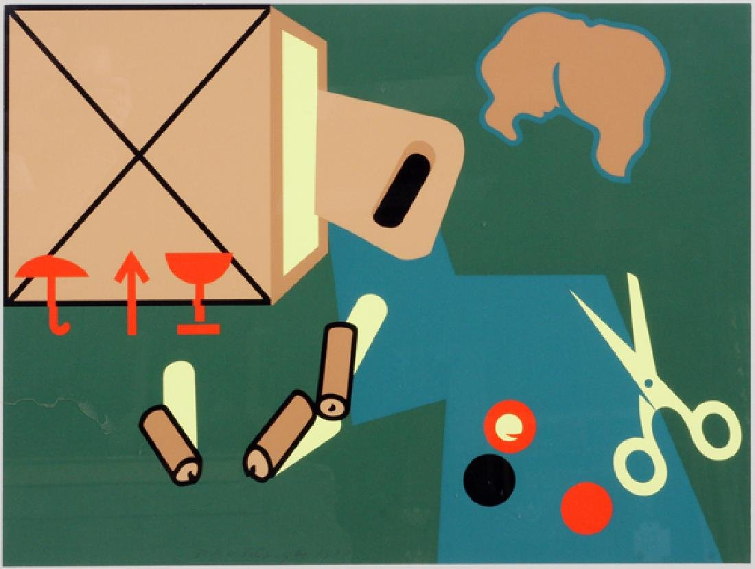 SIGNED CONTEMPORARY STILL LIFE PAINTING, C. 1972