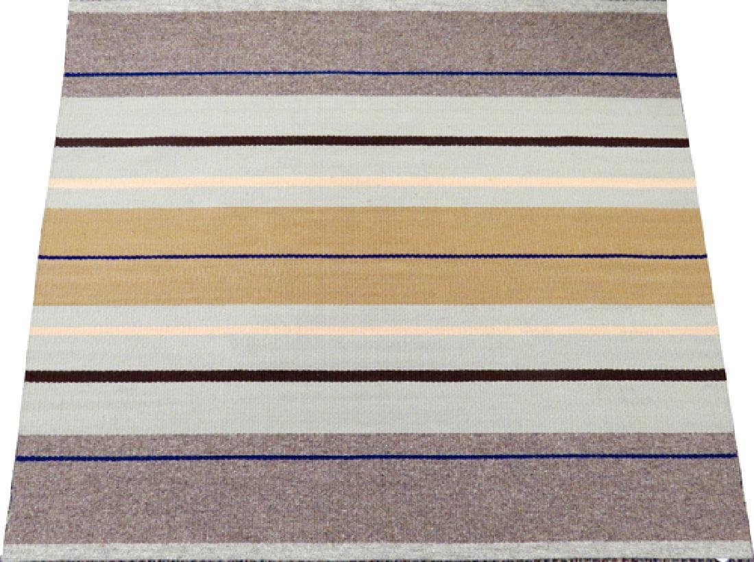 """HAND WOVEN WOOL RUG, W 3' 6"""", L 4' 2"""""""