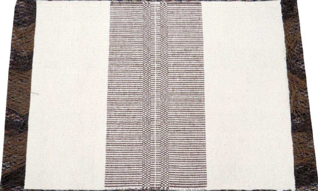 """HAND WOVEN WOOL RUG, W 2' 6"""", L 3' 5"""""""
