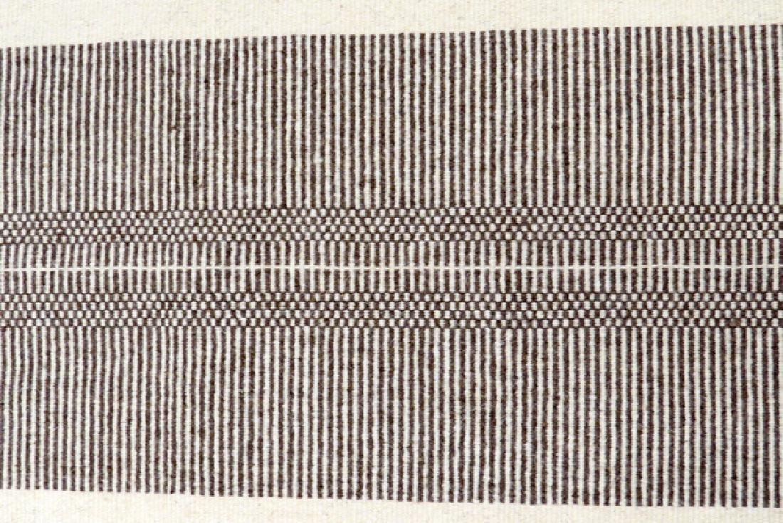 """HAND WOVEN WOOL RUG, W 2' 6"""", L 3' 5"""" - 2"""
