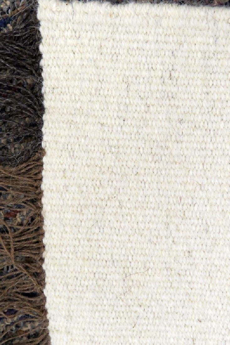 """HAND WOVEN WOOL RUG, W 2' 6"""", L 3' 5"""" - 3"""