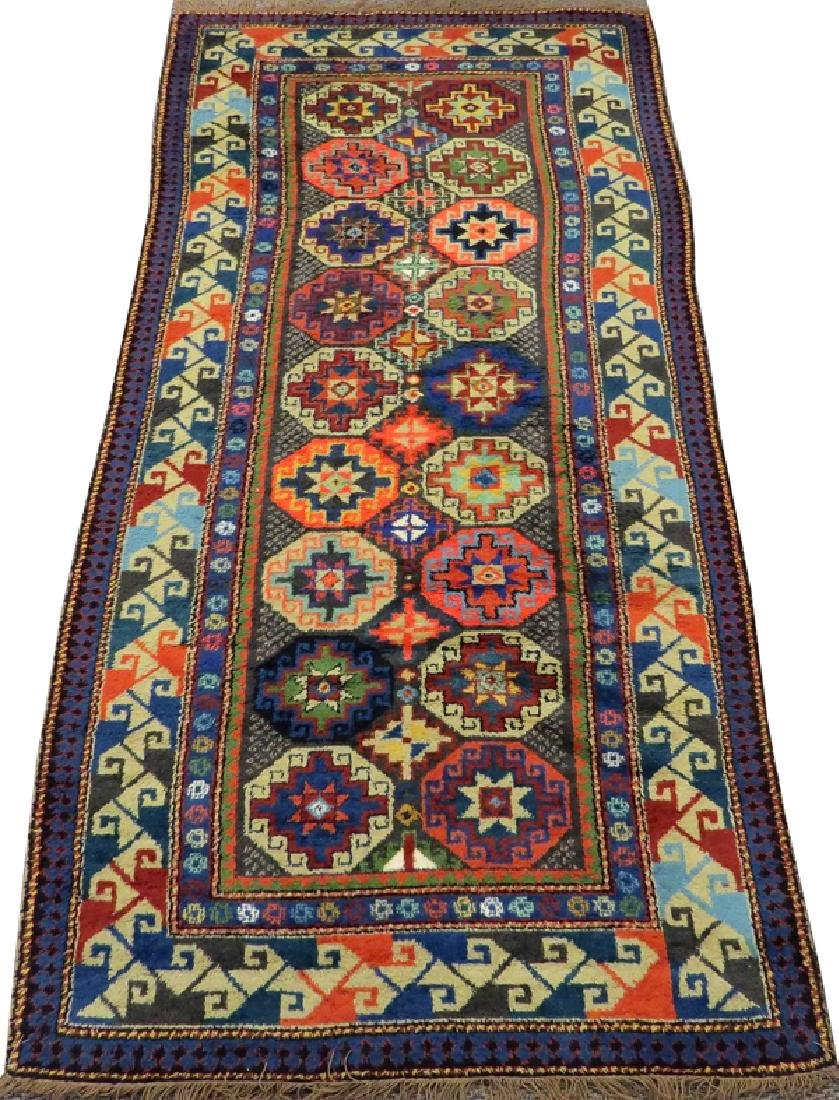 KAZAK STYLE MACHINE MADE WOOL RUG