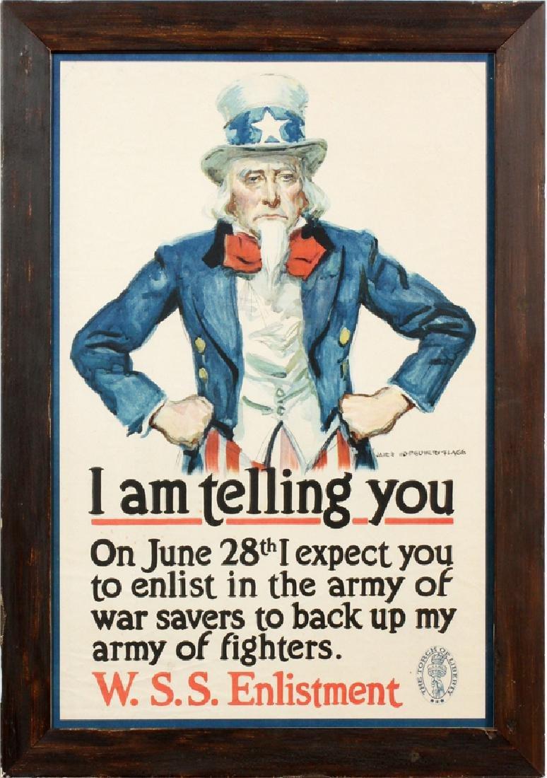 JAMES MONTGOMERY FLAGG WWI POSTER UNCLE SAM