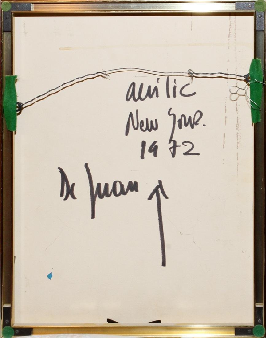 RONALD DE JUAN ACRYLIC ON BOARD 1972 - 4