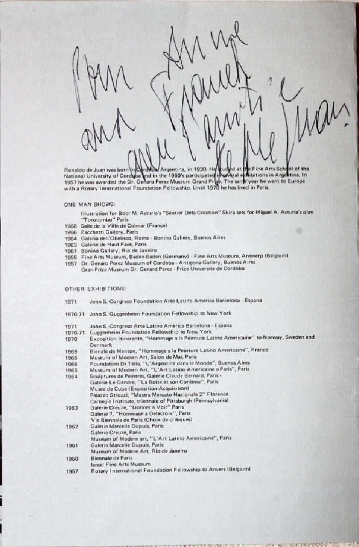 RONALD DE JUAN ACRYLIC ON BOARD 1972 - 5