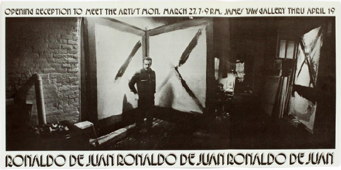 RONALD DE JUAN ACRYLIC ON BOARD 1972 - 7