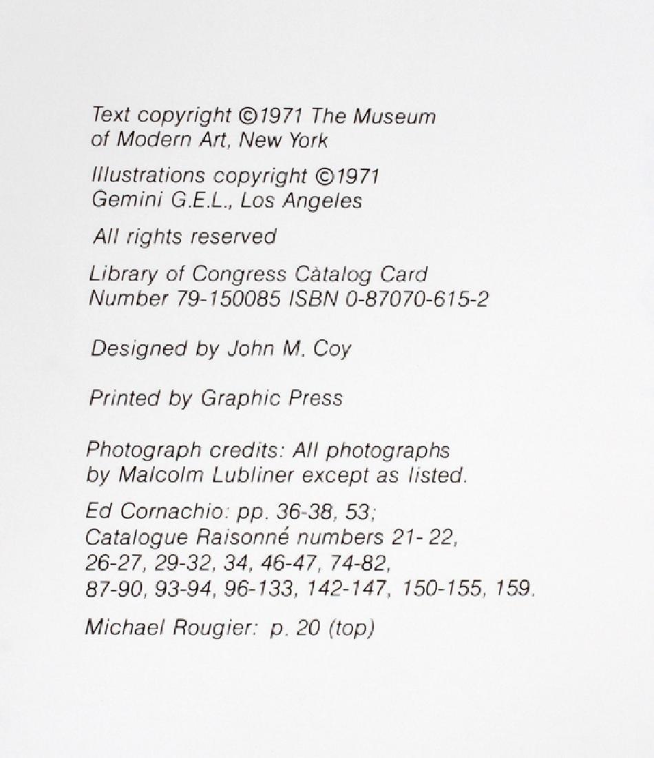JASPER JOHNS TECHNIC BOOK, ARTIST SIGNED - 5
