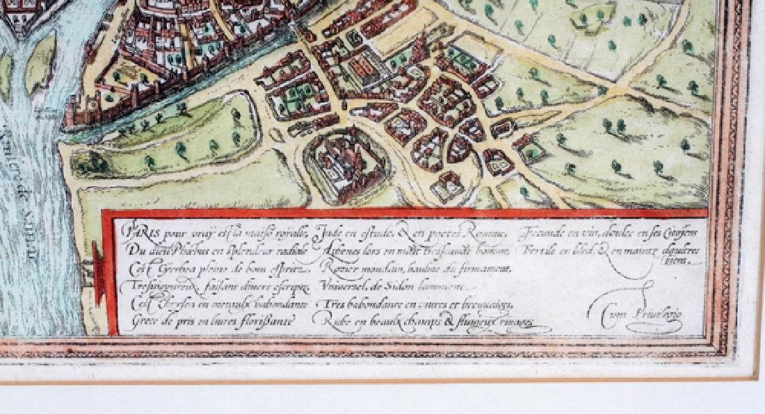 GEORG BRAUN & FRANS HOGENBERG HAND COLORED MAP - 4