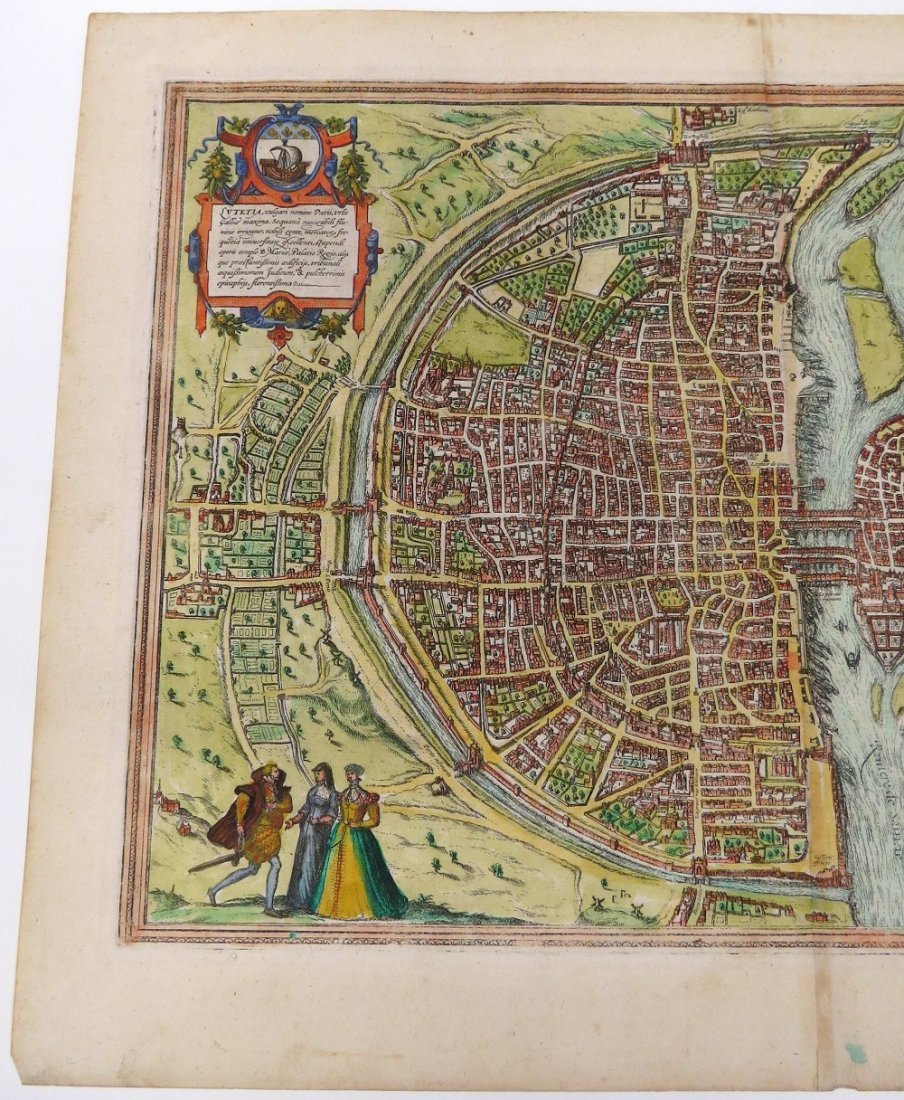GEORG BRAUN & FRANS HOGENBERG HAND COLORED MAP - 7