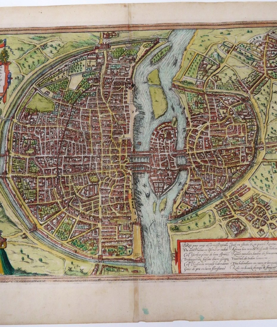 GEORG BRAUN & FRANS HOGENBERG HAND COLORED MAP - 8