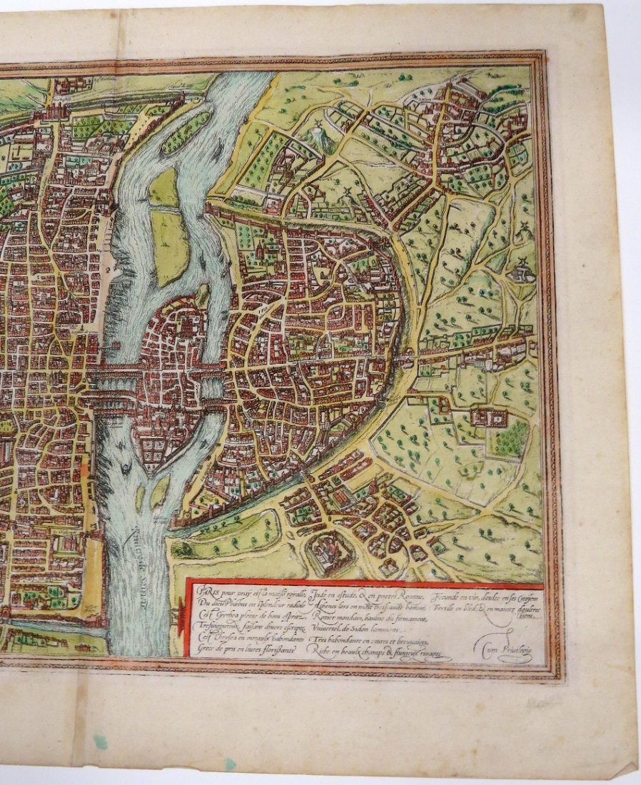 GEORG BRAUN & FRANS HOGENBERG HAND COLORED MAP - 9