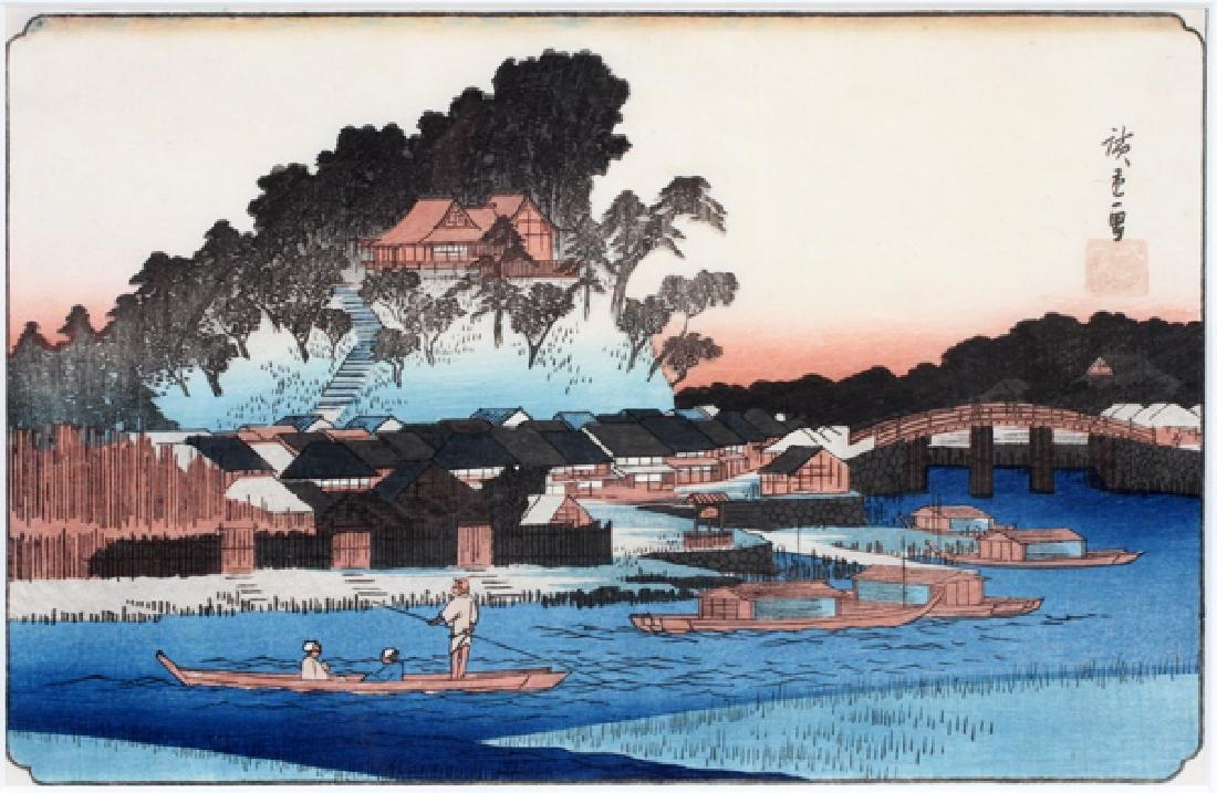 AFTER HIROSHIGE COLOR WOODCUT