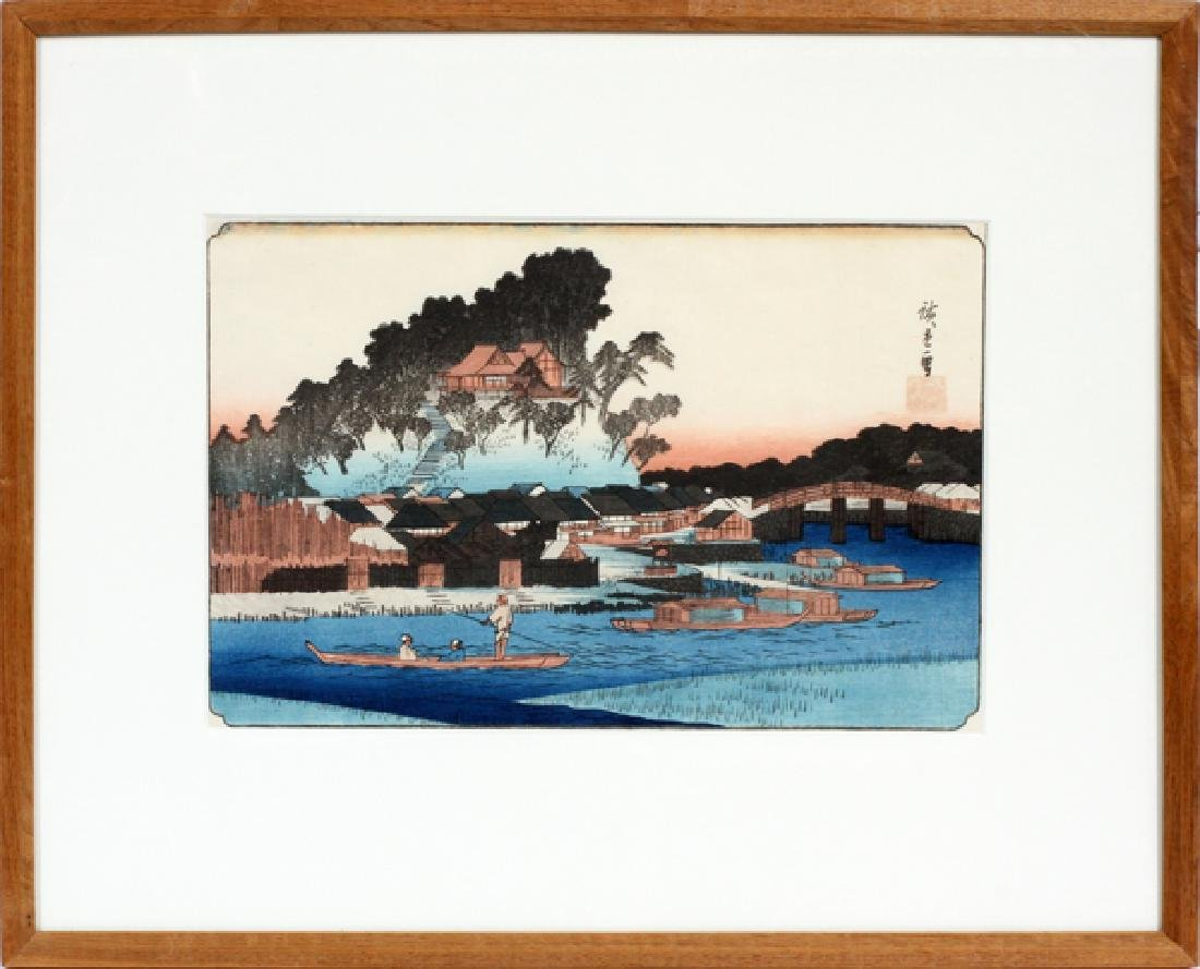 AFTER HIROSHIGE COLOR WOODCUT - 2