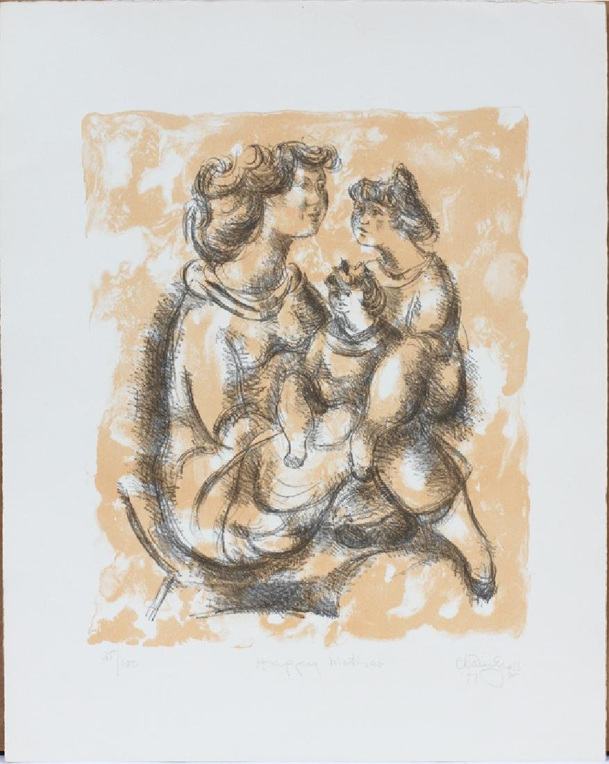 """ILLEGIBLY SIGNED """"CH. R_PNELS"""", COLOR LITHOGRAPH"""