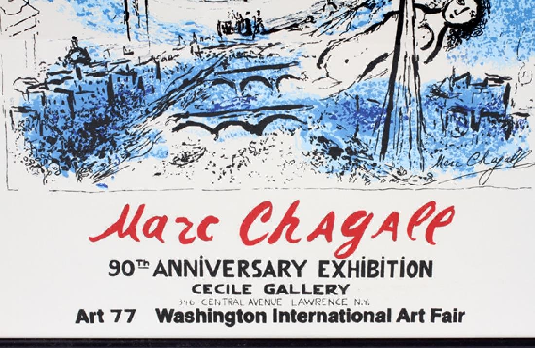 AFTER MARC CHAGALL COLOR LITHOGRAPH POSTER - 2