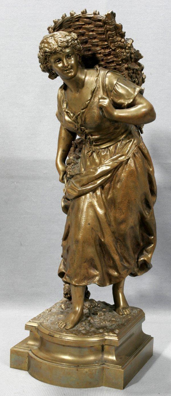 020005: ERNEST RANCOULET BRONZE SCULPTURE, HARVEST