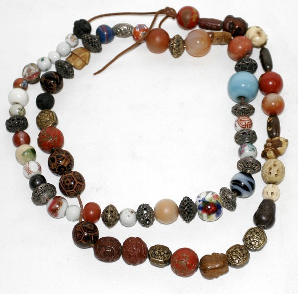 020017: ORIENTAL BEAD NECKLACE, L44""