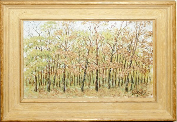 020262: J. ED BOREIN OIL ON CANVAS, FOREST SCENE