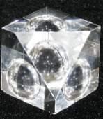 020482 STEUBEN GLASS PAPERWEIGHT H2