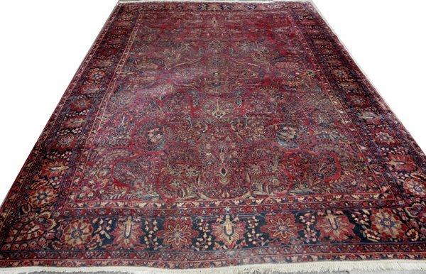 022012: SAROUK WOOL PERSIAN CARPET, C.1940-70