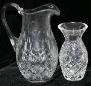 031260 CRYSTAL WATER PITCHER  WATERFORD VASE