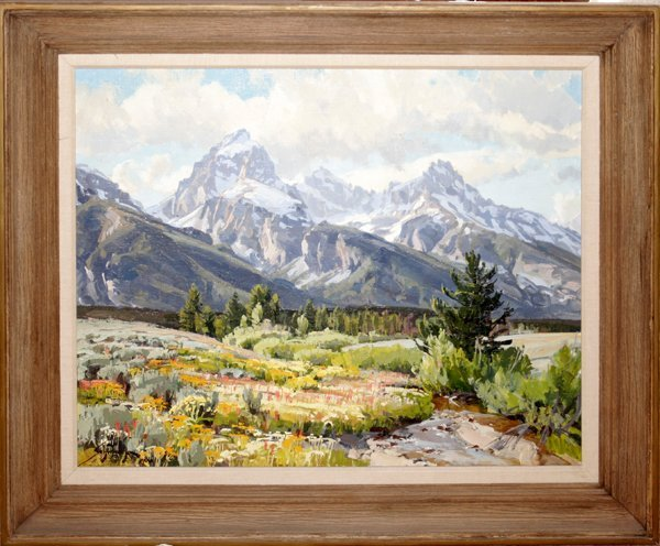 032011: CONRAD SCHWIERING OIL ON BOARD, HIGH COUNTRY