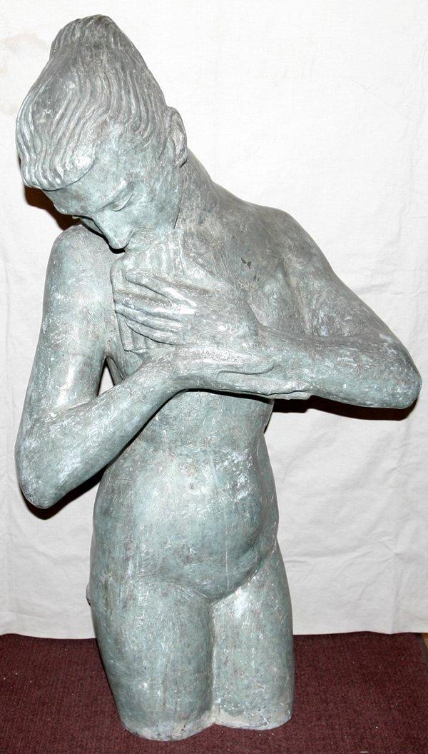 032014: FRANK VARGA BRONZE FIGURE OF A FEMALE NUDE