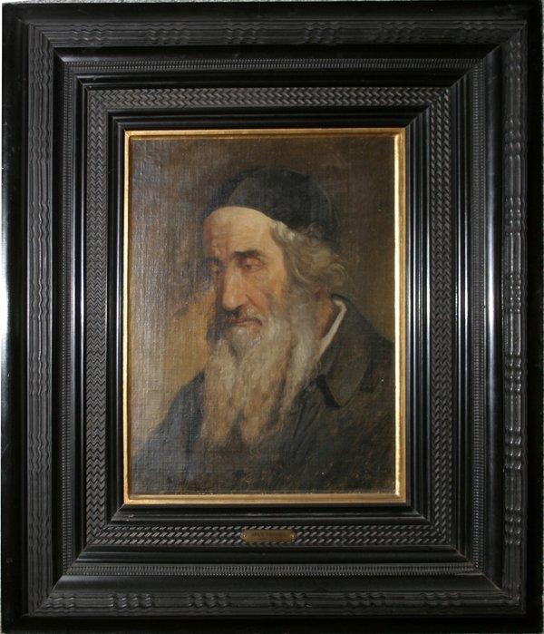 032020: ATTR. TO ADAM BRENNER OIL ON CANVAS, RABBI