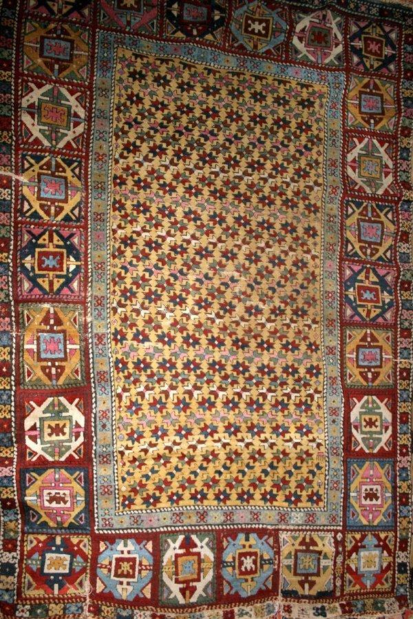 "032167: SHIRAZ PERSIAN WOOL RUG, C.1920, 7'4""x4'11"""
