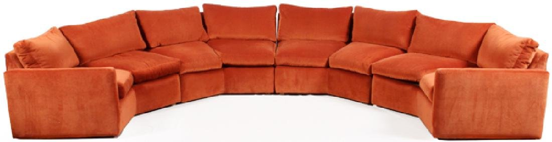 UPHOLSTERED SECTIONAL SOFA, 4 PARTS