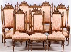 19TH CENTURY LOUIS XVI STYLE WALNUT PARLOR SET