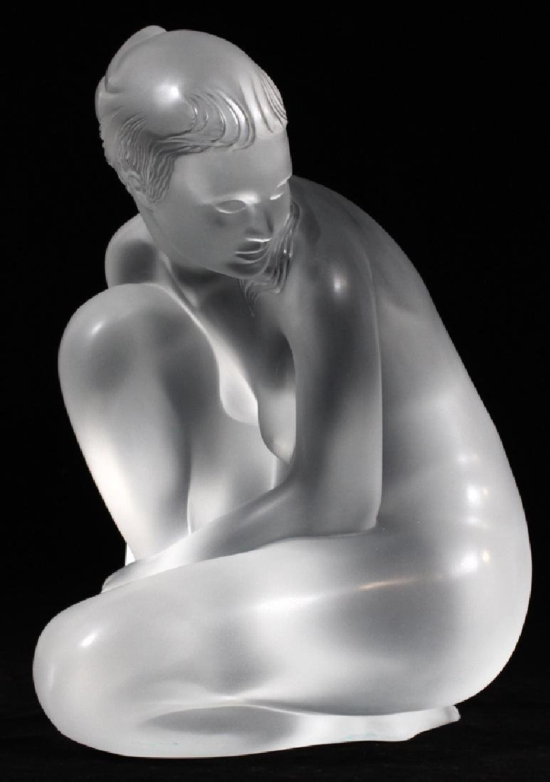 "LALIQUE FROSTED GLASS ""GRAND NUE VENUS"" FIGURE"