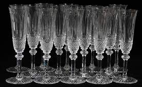 ST. LOUIS 'TOMMY' CRYSTAL CHAMPAGNE FLUTES