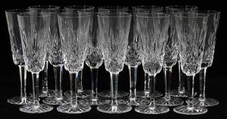 WATERFORD LISMORE CRYSTAL CHAMPAGNE FLUTES